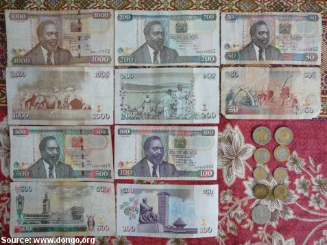Money @ Kenya - France: Travel Pictures Country next to Country - Misc.